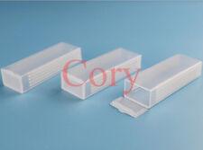 10pcs Microscope Slide Box Hold 5 standard microscope slides Plastic Clear White