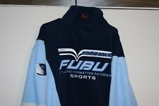 Fubu Sports Endurance 1/4 Zip VTG Fleece Jacket Multi Blue Men XXL Athletics Hip