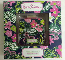 Lilly Pulitzer 30 pin iPhone 4 iPod mobile battery phone charger Tiger Lily
