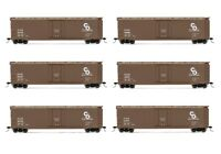 Rivarossi Chesapeake & Ohio Plug Door Box Car HO Scale Train Car - Set Of 6 Cars