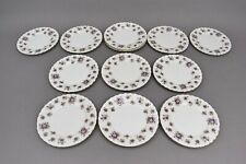 Royal Albert Sweet Violets Bread and Butter Dessert Bone China Plates Set of 13