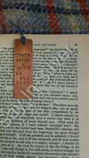 bookmark, personalised, gift, copper,book club 7 yr anniversary dad father's day