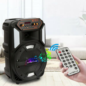 """8"""" Portable Bluetooth Speaker Wireless Outdoor 1000W Rechargeable Stereo System"""