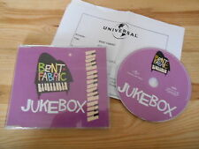 CD POP Bent Fabric-Jukebox (4) canzone PROMO UNIVERSALE + presskit SC