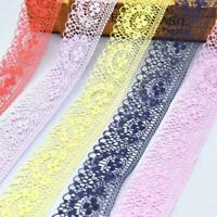 10Yards Lace Ribbon 40MM Lace Trim DIY Embroidered TI For Sewing Decoration G0W2