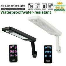 Solar 60 LED Street Wall Light PIR Motion Sensor Outdoor Garden Dimmable Lamp