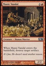 4x Manic Vandal M12 MtG Magic Red Common 4 x4 Card Cards