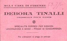 """BIGLIETTO DA VISITA """" ALLA CASA DI FIRENZE - DEBORA TINALLI """" CORREDI"""