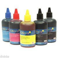 Universal Bulk Refill INK Bottles Non-OEM For HP Black Pigment and Dye Color