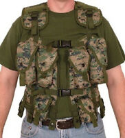 NEW - Tactical Mil-Spec Load Bearing Vest Marine MARPAT Digital CAMO
