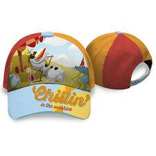 FROZEN cappello con visiera con OLAF rosso e arancio in cotone da bambino