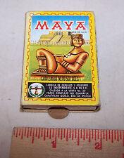 Wood Matches Pocket Size Box Mexico MAYA Palenque Chiapas Templo de las inscripc