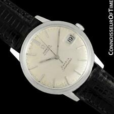 1968 OMEGA SEAMASTER GENEVE Mens Vintage 565 SS - Rare Double Signed Version