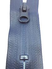 22cms Waterproof Navy nylon zip zipper. CLOSED ENDED zips. Free P&P