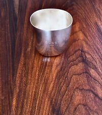 ~RARE GUCCI ITALIAN STERLING SILVER BABY CUP GUCCI BABY FLORENCE ITALY 1950-1970