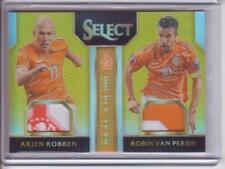 2015-16 Select Double Team Patch Gold #DTPR Arjen Robben Robin Van Persie 9/10