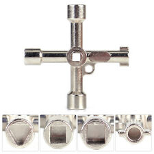 4 Way Radiator Utility Key for Meter Box Gas Electric Vent Bleed Service Rad