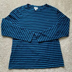 Lacoste Mens Blue Striped Slim Fit Cotton Long Sleeve Crew Sweater Size 2XL FR 7