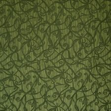 Large Floral Vine Solo Emerald Green Upholstery Fabric 2137621
