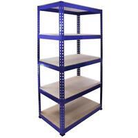 1 Racking Bay 90cm Garage Shelves Storage Warehouse Shelving Unit Steel 5 Tier