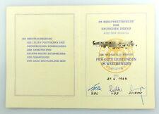 #e3406 Urkunde für Medaille in Bronze FDJ DDR Berufswettbewerb, 1964 verliehen