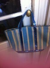 Sac cabas neuf VANESSA BRUNO rayé bleu avec sequins taille moyen