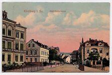 KIRCHBERG in Sachsen / Zwickau Erzgebirge / Bahnhofstraße * Relief-AK um 1907