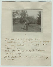 SUPER Unusual RARE Photographer's Self Images Booklet ca 1910 Sent to Henry Sell