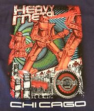 Hard Rock Hotel Cafe Chicago Heavy Metal Mens Junior T Shirt Band Music  XL