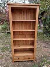 Contemporary Light Oak Open Bookcase - Possibly Oak Furniture Land