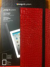 "Lot of 2 iPad 2 3 4 Cover/Case VERSO Shell Portfolio w/stand RED9.5""X7.5""."