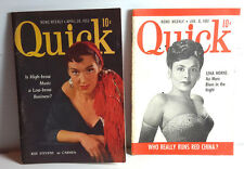 1950s QUICK Pocket Magazine Lot of 2 w Female Singers Covers-FREE S&H(C-6159)