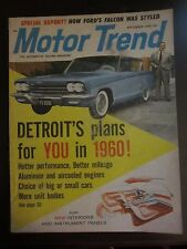 Motor Trend Magazine September 1959 Detroit's Plans You Ford Falcon UU DD PP GG