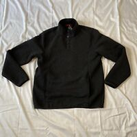 NEW  Gerry Mens Large 1/4 Snap pullover Textured Black Ottoman