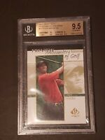 Tiger Woods 2001 Upper Deck SP Authentic BGS 9.5 10 Centering Preview Rookie RC