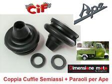 5694 - 2 Cuffie + 2 Paraoli Tenuta Olio Semiasse per Ape MP P501 190cc dal 1978