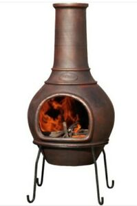Outdoor Cast Iron Fuego Chiminea with Lid
