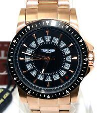 Triumph Motorcycles Men's Rose Gold Stainless Quartz Watch 3060-33 NEW