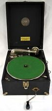 RARE Westphono Spencerian Model P Crank 78 RPM Portable Record Player Phonograph
