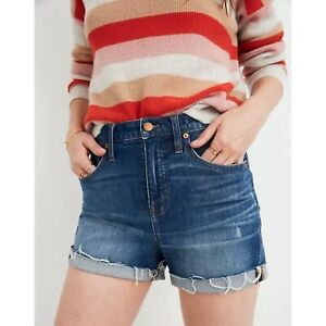 Madewell High-Rise Denim Shorts in Glenoaks Wash Cutoff Edition Woman's Size 29