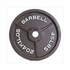 45 lbs CAP Barbell Black Olympic Weight Iron Plate Exercise Lifting Training