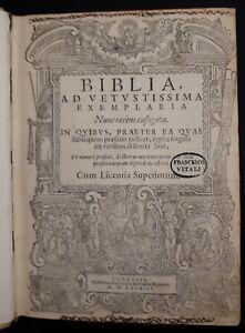Biblia, Ad Vetustissima Exemplaria Nunc recens castigata (2 tomi) - 1583