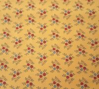 Bleecker Street BTY Quilting Treasures Floral Calico Flower Dark Gold Yellow