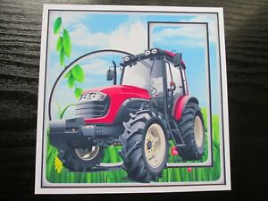 2 x RED TRACTOR / FARMING  Card Toppers Great For Mens/Boys Cards
