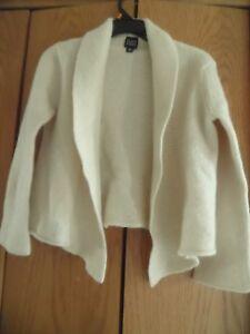 Eileen Fisher Womens Ivory Wool Blend Open Sweater Junior Sz XL