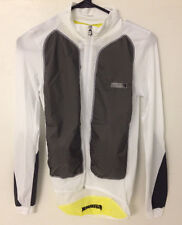 PISSEI UNICA ITALIAN CYCLING LIGHTWEIGHT JACKET WHITE/GREY XL-XXL MICROFIBER