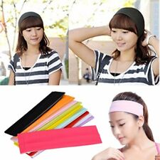 1pc Plain Headband Elastic Stretch Sports Yoga Hair Band Unisex Wide Wrap