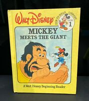Mickey Mouse Meets The Giant Vintage Book Disneyana Collectible Walt Disney