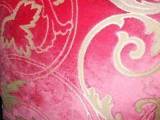 Throw pillow Designers Guild pink cut velvet on textured golden beige new ONE