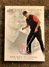 New listing 2013 UD MASTER COLLECTION #41 TIGER WOODS RED N BLACK SUNDAYS PGA BUICK #/200